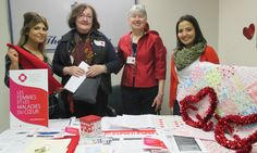 Wear Red Day at the Royal Victoria Hospital in support of the Women's Healthy Heart Clinic