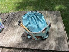 Medium  KNIT / CROCHET  Project Bag by StitchedNaturally on Etsy, $35.00