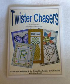 Book,Twister Chasers by Ruth Grihalva, Learn the Art of Twister Quilts and Patterns,Master the Techniques with the Instructions in This Book