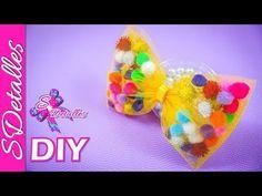 📍📍 Lazos de TUL con POMPONES 📍📍 | Video# 101 | SDetalles | DIY - YouTube Diy Hair Bows, Girls Quilts, How To Make Bows, Make Time, Diy Hairstyles, Hair Band, Hair Clips, Headbands, Little Girls