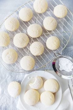 Cream Cheese Cookies (Pillow Soft Cookies) | Pizzazzerie Easy Cookie Recipes, Cookie Desserts, Baking Recipes, Dessert Recipes, Cream Cheese Cookies, Cookies Et Biscuits, Yummy Cookies, Cookies Soft, Sugar Cookies