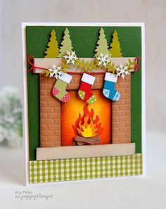 Adorable card (Waiting For Santa by the Poppystamps Design Team)