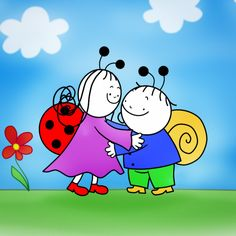 Berry, the Snail and Dolly the Ladybird are the best friends ever. They have many pretty adventures while making new friends and seeking out knowledge about . Toddler Meals, Toddler Recipes, Drawing For Kids, Children Drawing, Peppa Pig, Colouring Pages, Charlie Brown, Smurfs, Berries