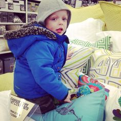 My handsome son Jayvier who was having fun helping mom pick out new bedding lol he was hopping all over the place haha ❤️