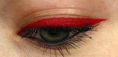 Red eyeliner from Inglot Pretty Makeup, Makeup Looks, Skin Makeup, Beauty Makeup, Red Eyeliner, Makeup Tumblr, Diy Makeup Vanity, Makeup For Teens, Color Lines