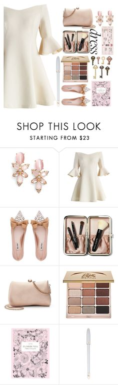 """""""◇BELL SLEEVE ft. OFF SHOULDER◇"""" by tamsy13 ❤ liked on Polyvore featuring Kate Spade, Chicwish, Miu Miu, Bobbi Brown Cosmetics, LC Lauren Conrad, Stila, Chronicle Books, Louis Vuitton and offshoulderdress"""