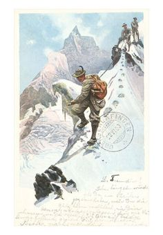 vintage climbing in the Alps