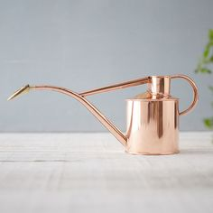 A beautiful gift for the gardener, this polished copper watering can is a classic style from Haws. Tucked into a matching gift box, each can is made from solid copper and topped with the traditional Haws brass rose for gentle watering. Over time, the copper will develop a beautifully oxidized patina with hints of verdigris.- Copper, solid brass rose- Indoor or outdoor use- Holds 1 liter- Removable brass rose- Turn rose upward for a gentle spray, or down for heavier watering- Copper will…