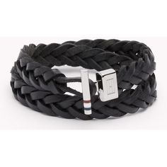 Tommy Leather Bracelet ($52) ❤ liked on Polyvore featuring jewelry, bracelets, accessories, leather bangles and leather jewelry