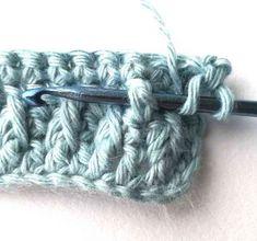 Alpine stitch - Nordic Hook Tunisian Crochet, Crochet Stitches, Crochet Patterns, Triple Crochet Stitch, Single Crochet, Crochet Gratis, Free Crochet, Front Post Double Crochet, Crochet Tutorials