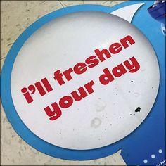 Mentos Freshen-Your-Day Floor Graphic – Fixtures Close Up Retail Fixtures, Store Fixtures, Speech Balloon, Floor Graphics, Visual Merchandising, Balloons, Bubbles, Creativity, Flooring