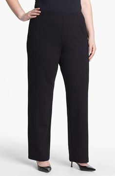 Black ankle pants plus size