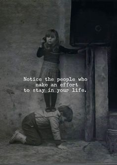 "Quotes Discover 101 Amazing Quotes about Best Friends ""Notice the people who make an effort to stay in your life. Quotes About Attitude, True Quotes, Words Quotes, Motivational Quotes, Sayings, My Kids Quotes, Loner Quotes, Poetry Quotes, Quotes Quotes"