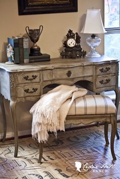 A beautiful (re-done) french vanity. #frenchdecor