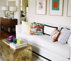 Tape trim sofa for a tailored look