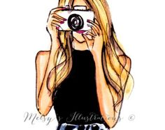 saw this illustrator in display at columbus circle NYC xmas market and LOVED her work - Melsy's Illustrations - this print is: SNAP Art And Illustration, Illustrations, Illusion Kunst, Jamel, Fashion Sketches, Belle Photo, Cute Drawings, Cute Art, Fashion Art