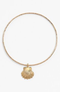 ki-ele 'Golden Sunrise' Shell Charm Bangle available at #Nordstrom