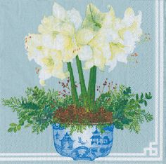 4x Paper party Napkins for Decoupage  Muscari Mix Napkin Art