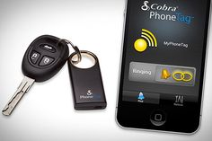 "Cobra PhoneTag  It's a traveler's nightmare. You're late for your flight (or meeting) and can't find your keys. Cobra's key ring attachment lets you ""call"" your keys from your phone. Or, if you walk too far from your keys accidentally, it will immediately send a text or email to your phone alerting you that you've left them behind, with GPS coordinates telling you where they are. Consider it a $80 insurance payment for that time you somehow leave them in the freezer the night before."