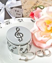 Put music - and a smile - in their hearts with these adorable musical note trinket box favors, we know that music is an important part of any special occasion. These are great for baby shower, wedding favors, bridal showers or birthday parties. Go to: http://www.birthday-party-stuff.com/category_14/1/Sweet-16-15.htm Only $3.25