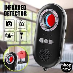 Multifunctional Infrared Detector Anti-Spy Hidden Camera Detector Infrared Anti-lost Anti-theft Alarm System Sensing Device Super Fast Delivery: 5 to 8 days Clever Gadgets, Gadgets And Gizmos, Technology Gadgets, Tech Gadgets, Office Gadgets, Spy Detector, Hidden Camera Detector, Simple Life Hacks, Useful Life Hacks