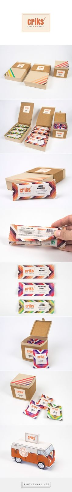 Branding, packaging and graphic design for Criks on Behance by Alex Celaire Aix-en-Provence, France curated by Packaging Diva PD.  Insect protein bar made with cricket flour, for an active and healthy life.