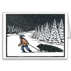 Image result for snow linocut print
