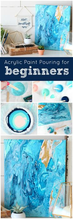 DecoArt Blog - DIY - Acrylic Poured Canvas Art