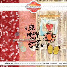 Quality DigiScrap Freebies: Life is an Adventure tiny kit freebie from Little Butterfly Wings