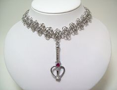 www.etsy.com/shop/eternalelfcreations  Sailor Moon necklace chainmaille choker by Eternalelfcreations, $30.00