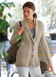 Knitting Pattern Shawl Collar Jacket in Bergere de France Bergereine Ladies Cardigan Knitting Patterns, Knitting Ideas, Wool Shop, Shawl Collar Cardigan, Knitting Wool, Hand Knitting, Jacket Pattern, Knit Crochet, Womens Knitwear