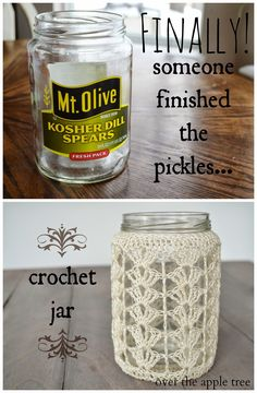 Shell Jar Cozy Free Crochet Pattern from Over The Apple Tree