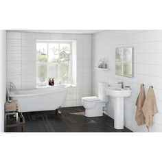 Click here to find out more about the Orchard Deco bathroom suite with traditional slipper bath - £539