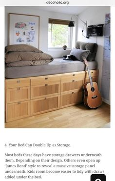 Storage Under Bed.good Idea For Teen Boyu0027s Room