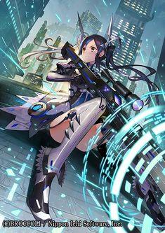 Sci Fi Anime, Anime Oc, Mecha Anime, Female Character Concept, Character Art, Kawaii Anime Girl, Anime Art Girl, Neko Maid, Cute Anime Pics