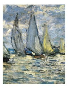The Boats, or Regatta at Argenteuil. Claude Monet