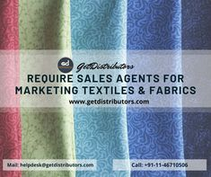 Sales Agents can browse through various manufacturers' options available on GetDistributors.com and choose their preferred products. Festive seasons and occasions generate higher revenues due to increased demand and thus high commissions. All you need to know is how to present your product well!    #textiles #fabric #fabricmaterial #cottonfabric #knittedfabric #sales #businessopportunity #business