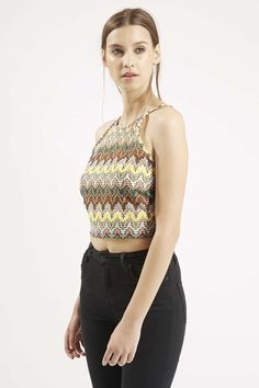 TALL EXCLUSIVE Crochet Square Neck Crop Top - Topshop