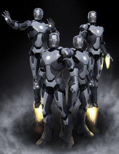 ArtStation - Avengers: Age of Ultron Iron Legion Group Concept, Josh Herman