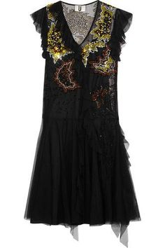 Embellished ruffled tulle dress #dress #women #covetme #topshopunique