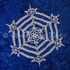 Serenity Snowflake - free crochet pattern from Snowcatcher.