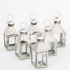 Candle Holders Design : Classic Lanterns Polished Nickel Set Of Six Transitional Stainless Mini Candle Holders Shinings Silvers Colours Elegances Luxury mini candle holders Lantern Tealight Holder. Mini Lanterns In Bulk. Silver Lanterns, Hurricane Lanterns, Candle Lanterns, Votive Candles, Candle Set, Lantern Set, Lantern Candle Holders, Contemporary Candles, Classic Lanterns