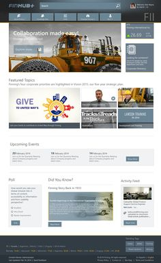 Finning - SharePoint 2013; Visual Design; Wireframe by Akanksha Goyal, via Behance