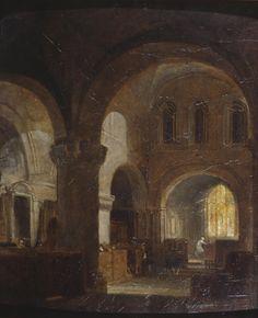 "J.M.W. Turner (1775-1851), ""Interior of a Romanesque Church"" - Tate Britain ~ London, England"