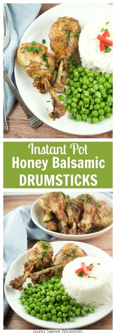 These succulent Instant Pot Honey Balsamic Drumsticks require only 5 ingredients and are ready in 20 minutes or less, for an easy quick weeknight dinner. More instant pot recipes at livingsweetmoments.com via @Livingsmoments