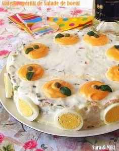 Les plats roumaines: Gâteau apéritif de Salade de boeuf