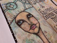 """Art Journal by *Silkku* """"I am ready to leave ..."""" silkkus.blogspot.fi Art Journal Pages, Handmade, Hand Made, Craft, Handarbeit"""