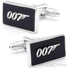 Black Bond 007 Sign Cufflinks