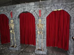 Haunted House Sets  Here is a room we did for a local Haunted House in Chicago. All done with white foam board.   Blood Brood FX