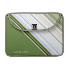 Diagonal Stripes White Unisex Macbook Pro Sleeve personalize with name  #zazzle